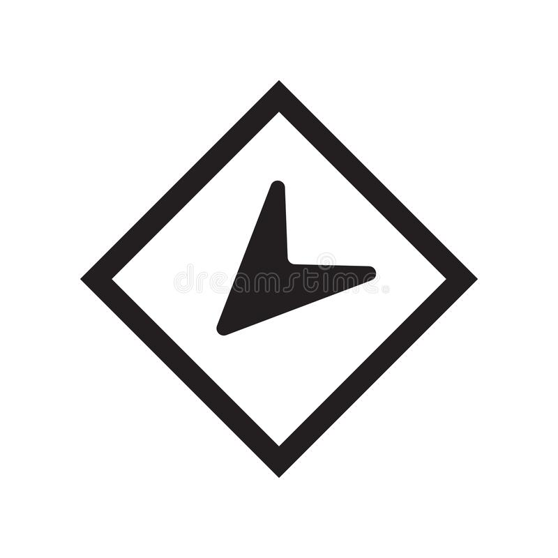 Round location indicator icon vector sign and symbol isolated on royalty free illustration