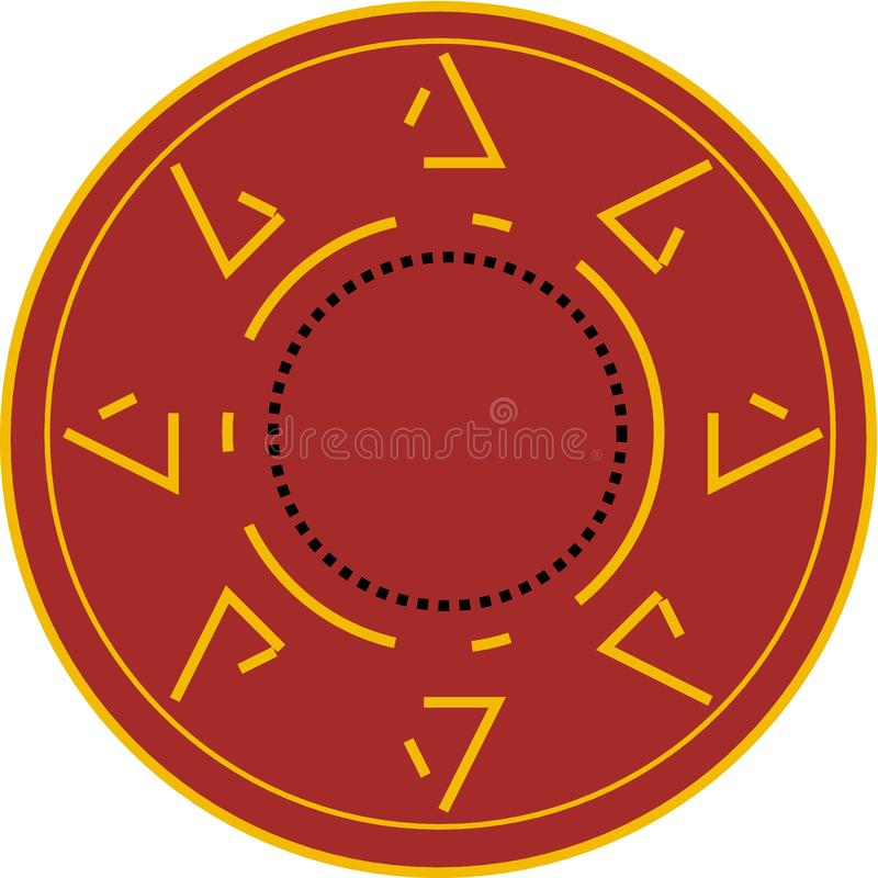 Round logo in brown background royalty free stock photo