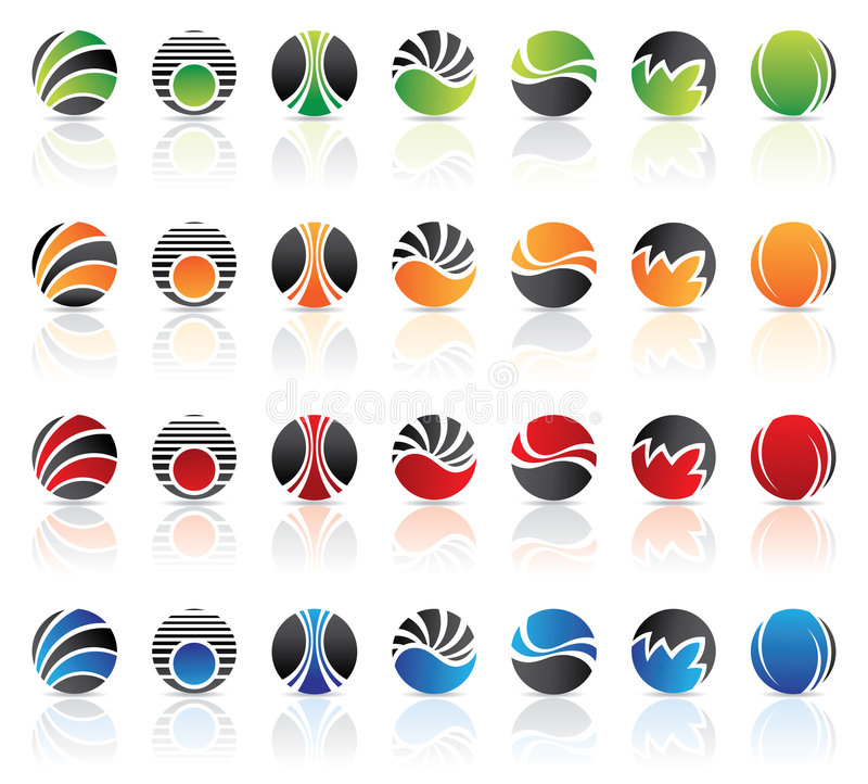 Round Logos stock illustration