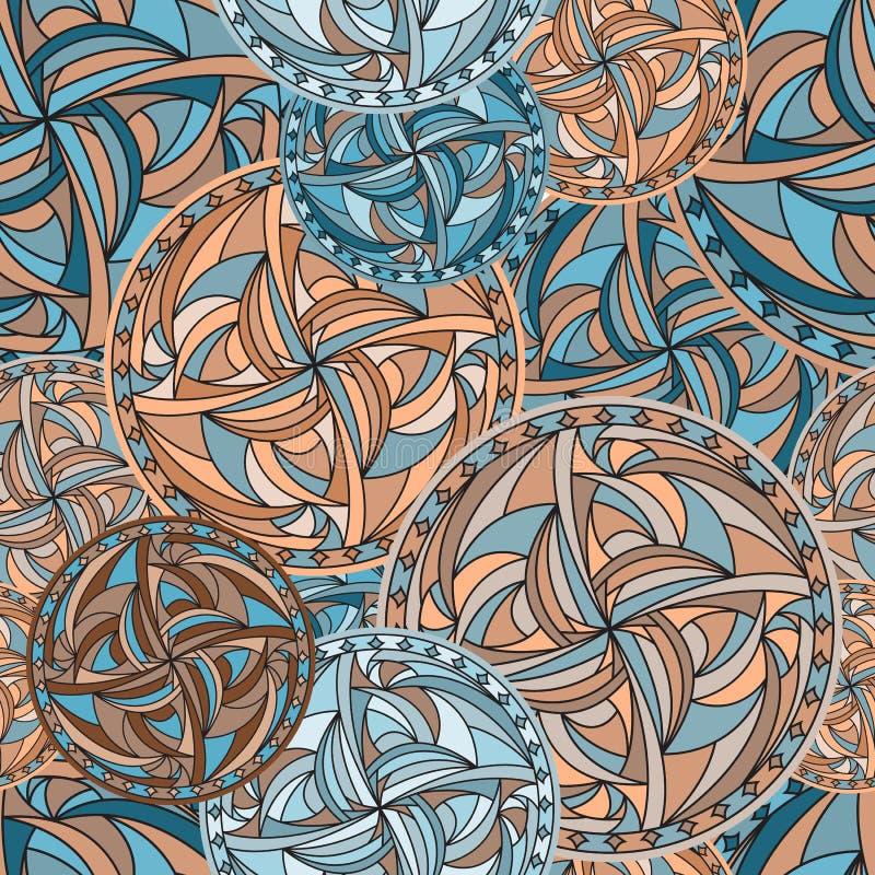 Round mandala bezszwowy wektor royalty ilustracja