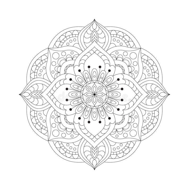 Round mandalas in vector. Graphic template for your design. Decorative retro ornament. Hand drawn background with flowers. Round mandalas in vector. Graphic vector illustration