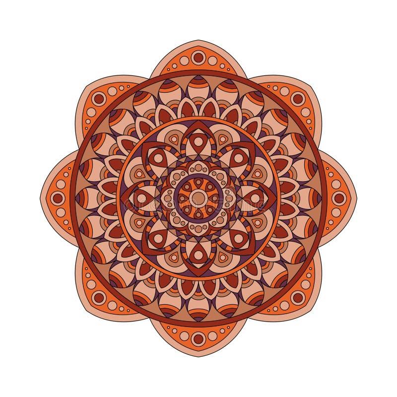 Round mandalas in vector. Graphic template for your design. Decorative retro ornament. Hand drawn background with flowers. Round mandalas in vector. Graphic vector illustration