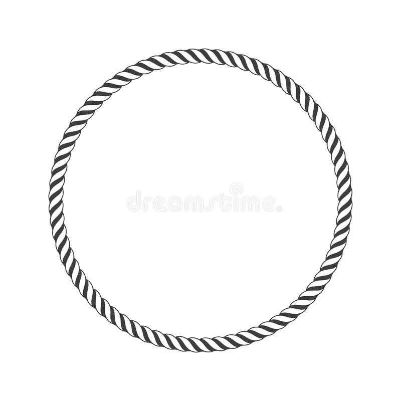 Round marine rope. vector illustration