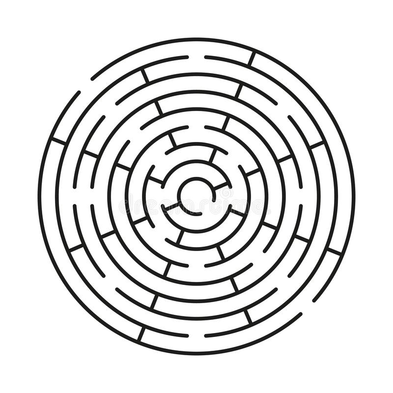 Round maze icon stock photography