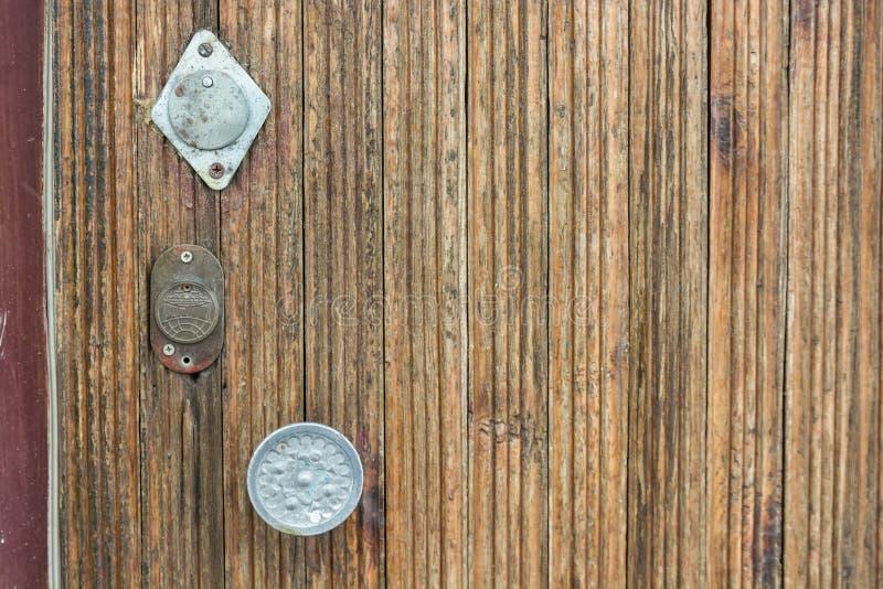 Download Round Metal Door Handle On Wooden Door Close Up Stock Photo    Image Of Doorknob