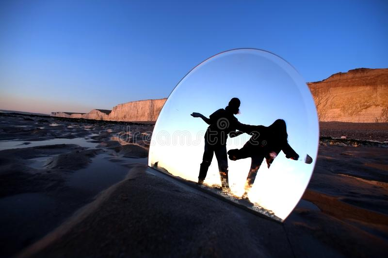 Round mirror royalty free stock photography