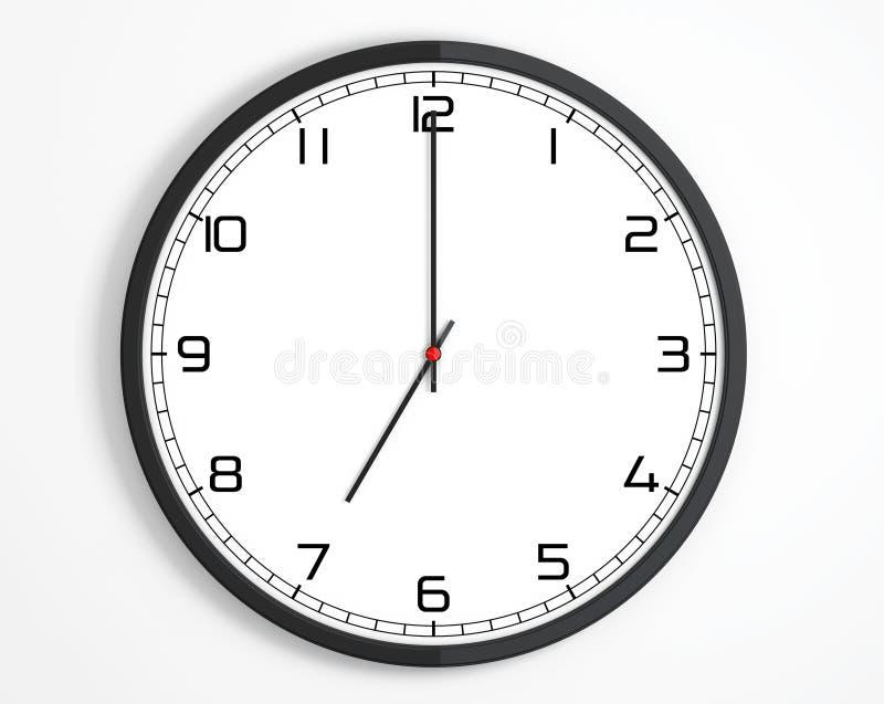 Round Modern Office Clock royalty free illustration