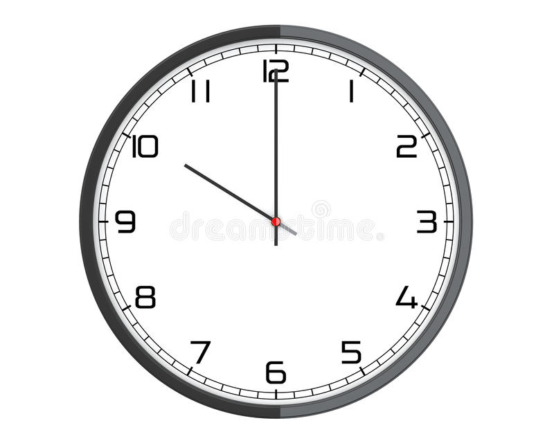 Round Modern Office Clock vector illustration