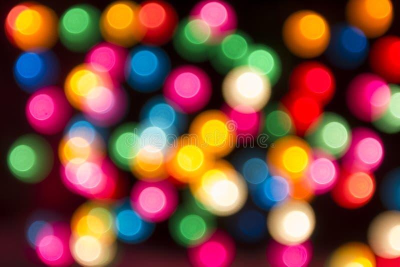 Round multicolor bokeh na czarnym tle zdjęcia royalty free