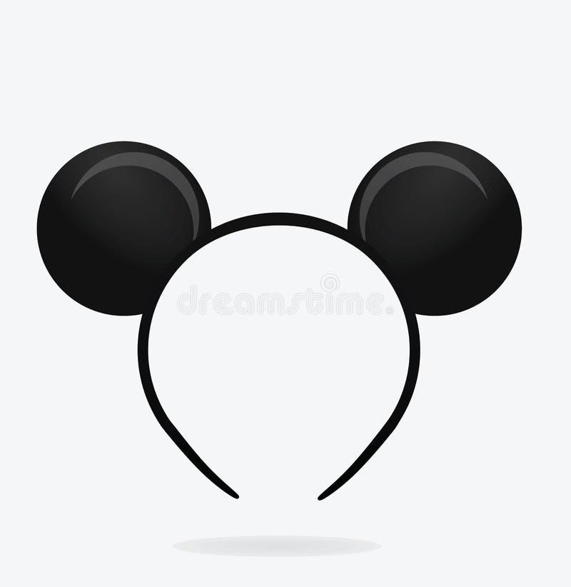 Round mysz ucho maska ilustracji