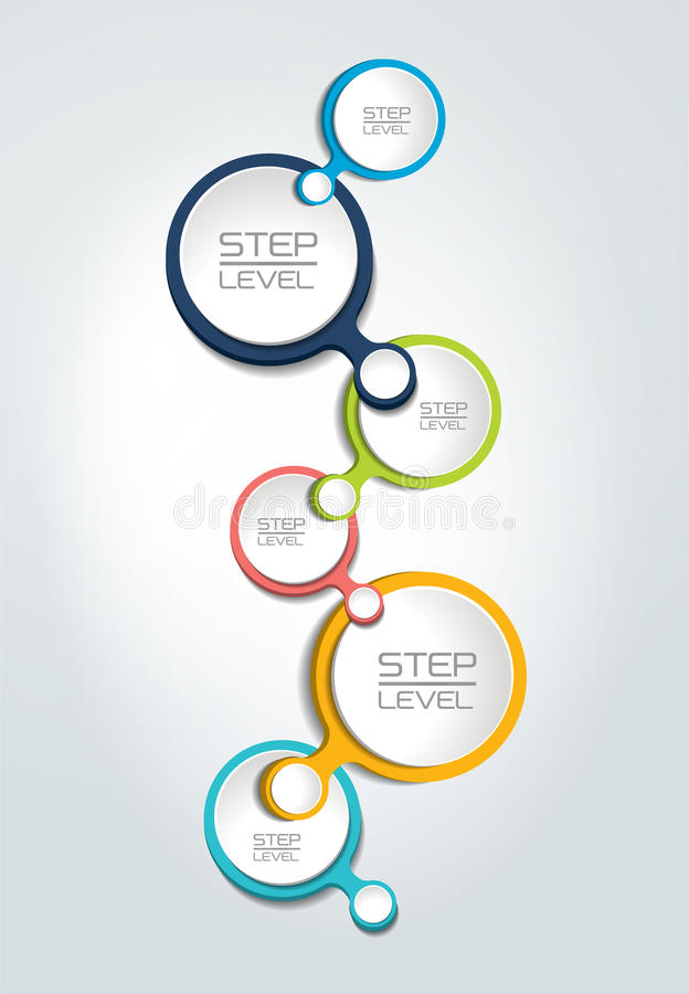 Round Numbered Step By Step Template, Banner. Business Color Vector ...
