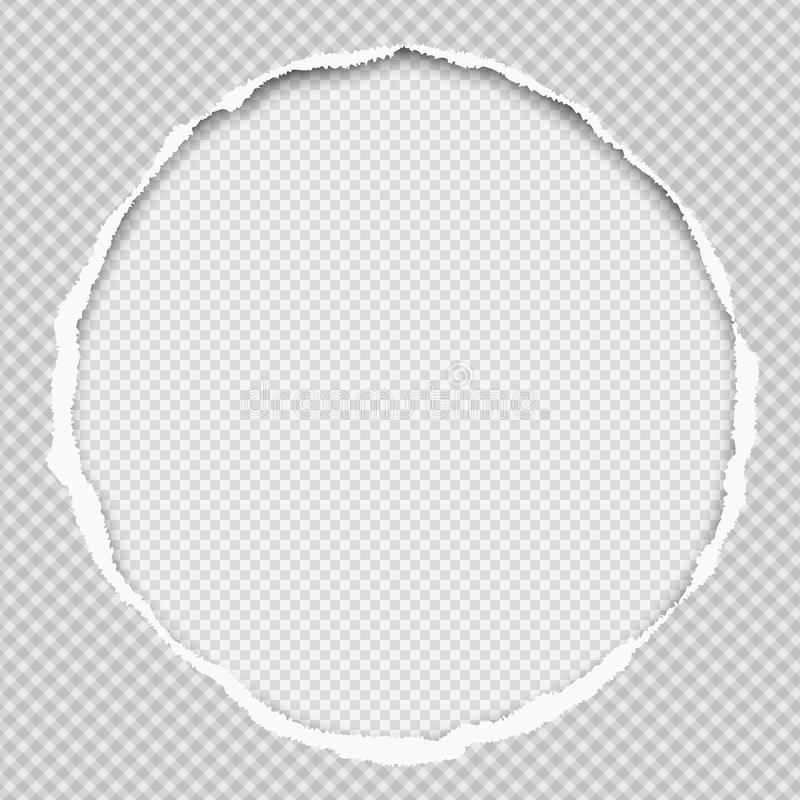 Free Round Paper Composition With Torn Edges And Soft Shadow Is On White Squared Background. Vector Illustration Royalty Free Stock Images - 141175269