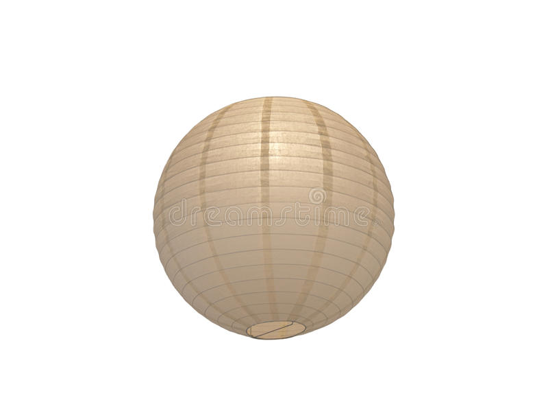 Round Paper Lantern Ball. Isolated on a white background royalty free stock photography