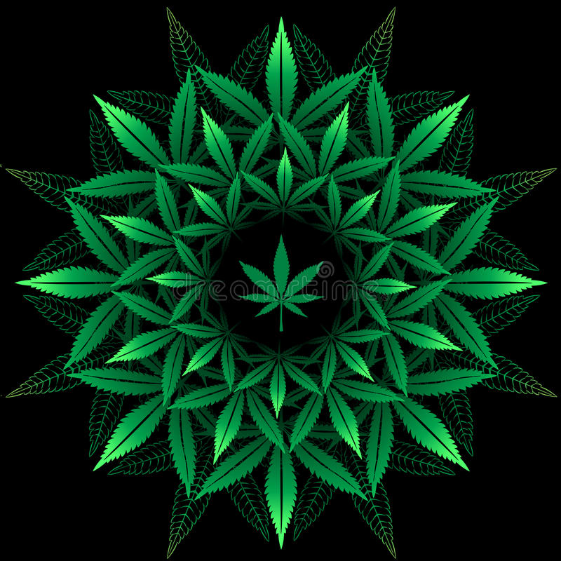 Free Round Pattern From Cannabis Leaf Royalty Free Stock Images - 75206429