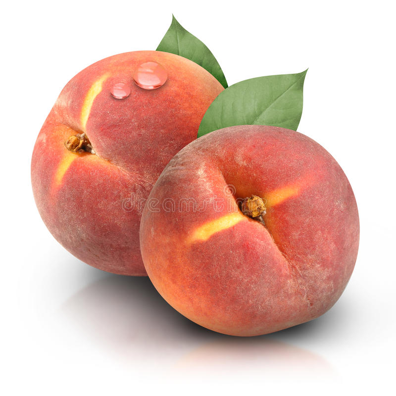 Download Round Peaches On White Background Stock Image - Image: 17094991