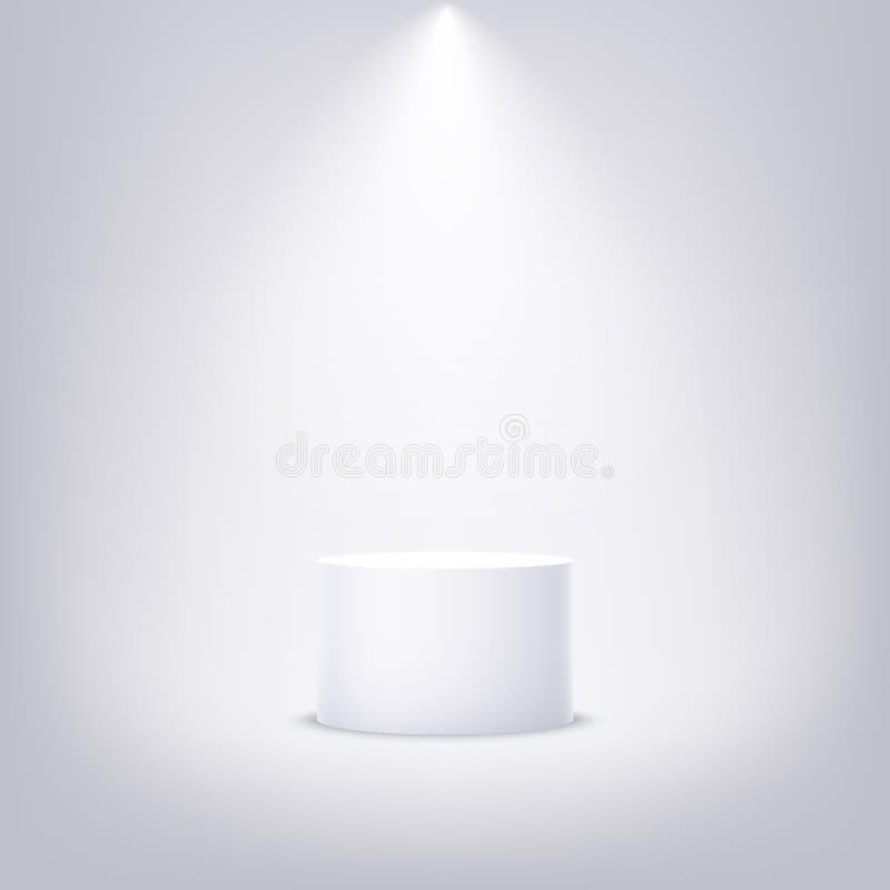 Round pedestal for product presentation. Mockup empty 3d podium. Vector design vector illustration