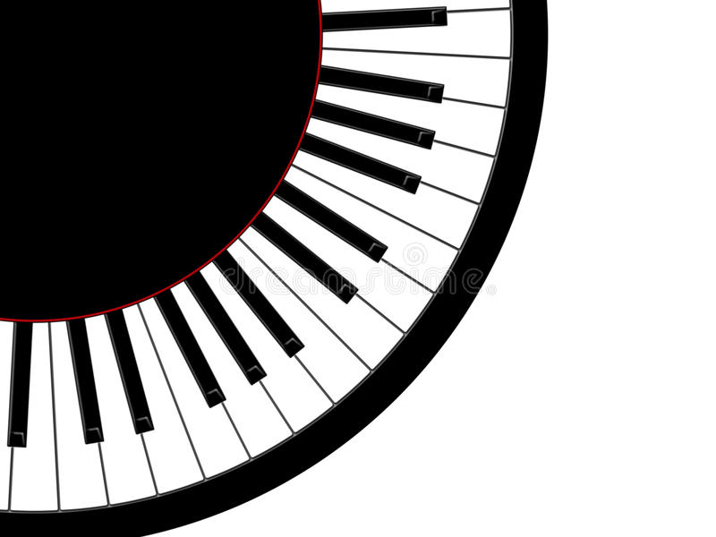 Round pianino royalty ilustracja