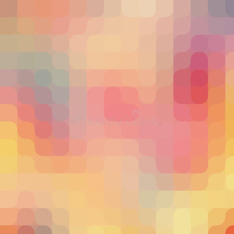 Round piksel sztuki wzór tła nowożytny kolorowy royalty ilustracja