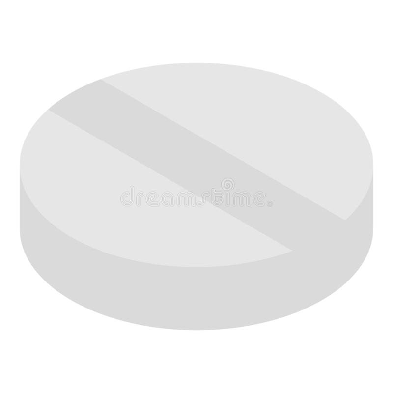 Round pill icon, isometric style stock illustration