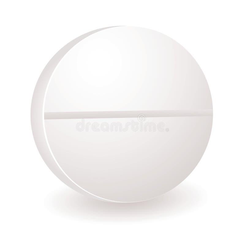 Round pill illustration vector illustration