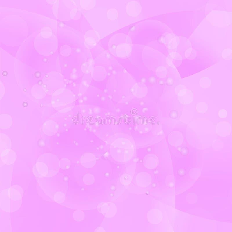 Round Pink Wave Pattern. stock illustration
