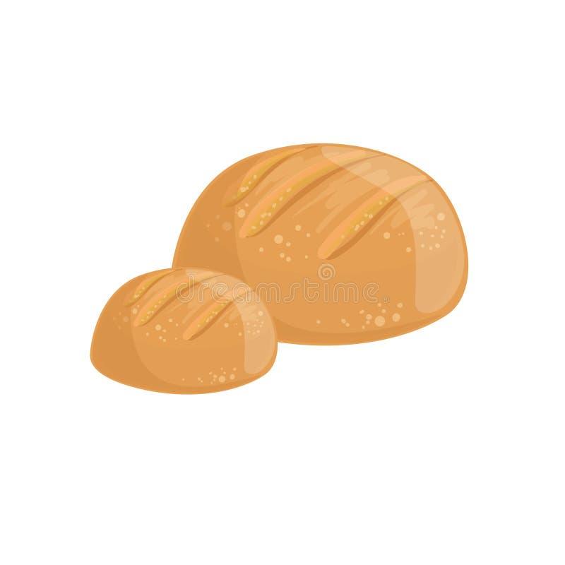 Round Pszeniczna Chlebowa piekarnia asortymentu ikona ilustracja wektor