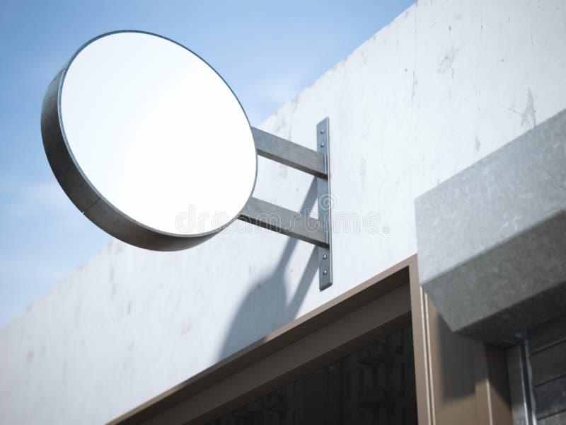 Round pusty signboard świadczenia 3 d obraz stock