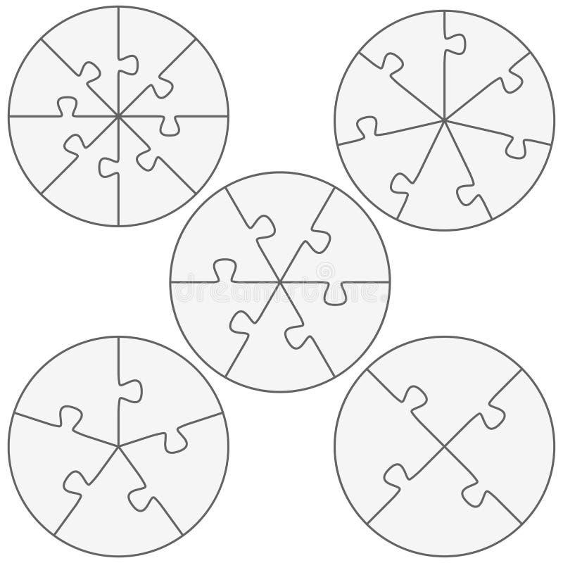 Round puzzle templates stock vector. Illustration of illustration ...