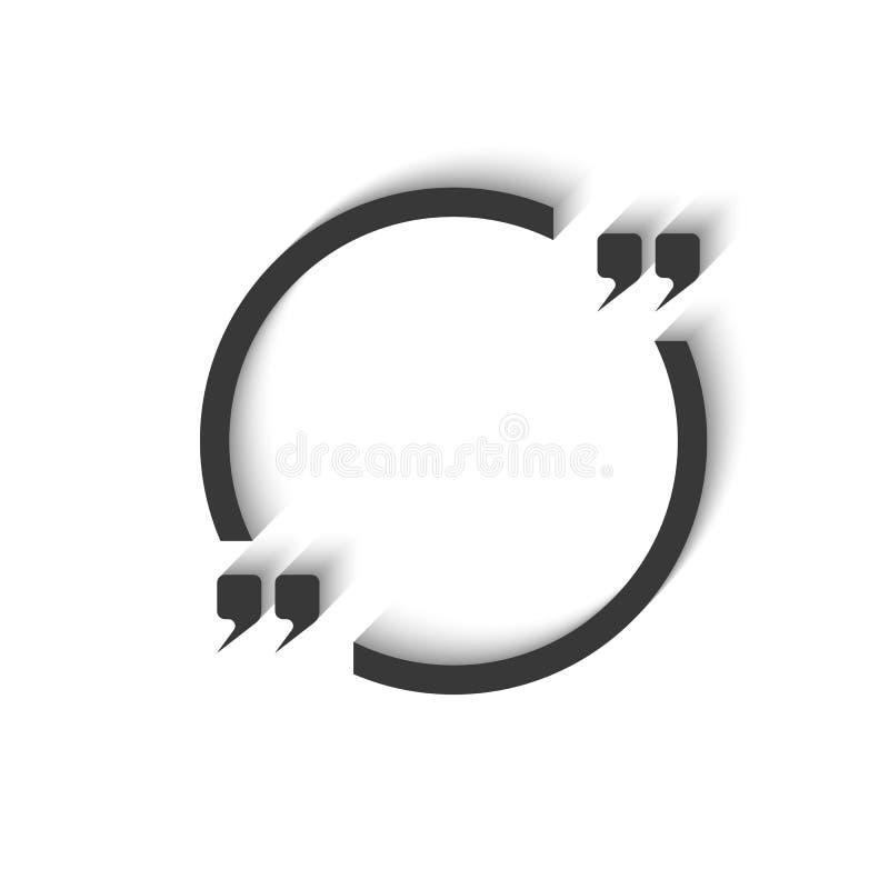 Round rama dla tekst wyceny mockup, okrąża czystą pustą szablon białą księgę ilustracji
