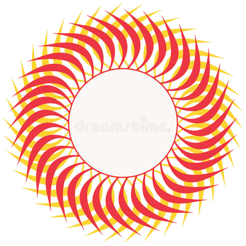 Download Round ranoli design stock illustration. Image of computer - 24696565