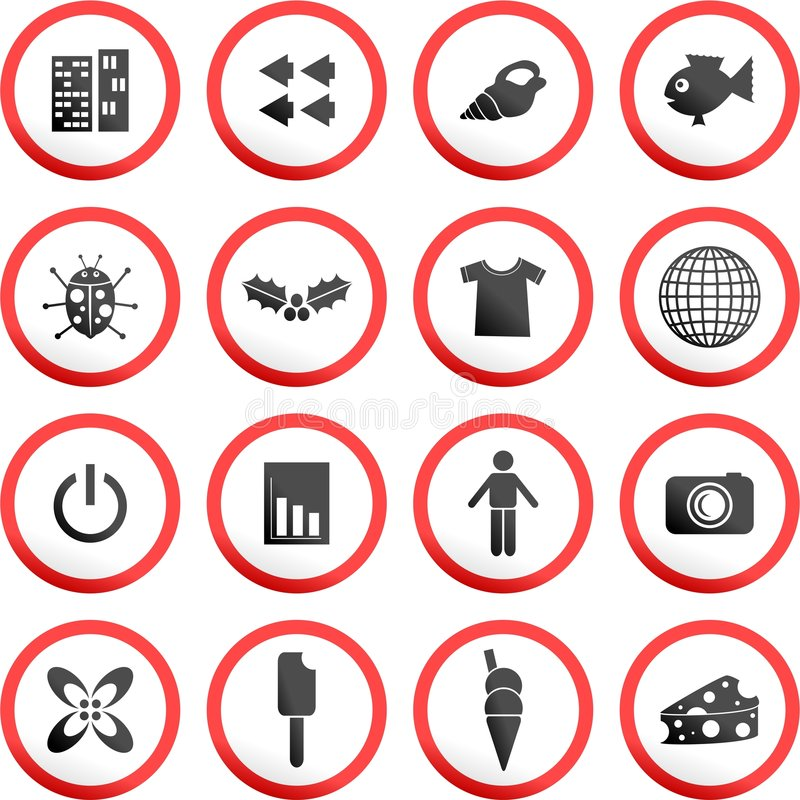 Download Round road signs stock illustration. Image of cream, arrows - 5749790