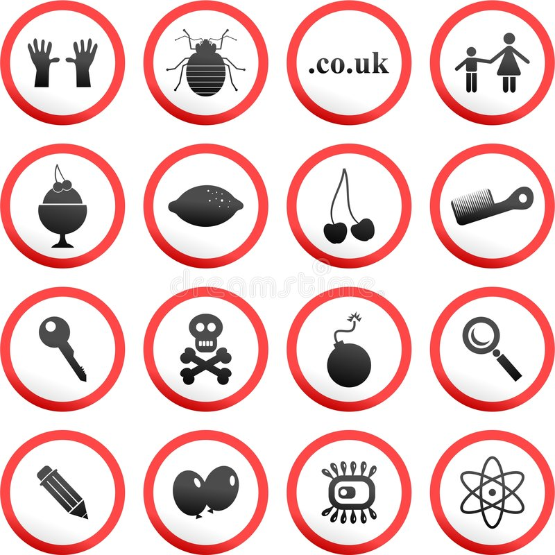 Download Round road signs stock illustration. Image of hands, clipart - 5765713