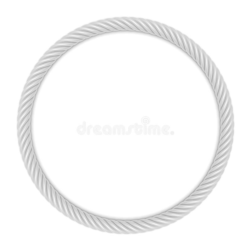 Round rope frame vector illustration