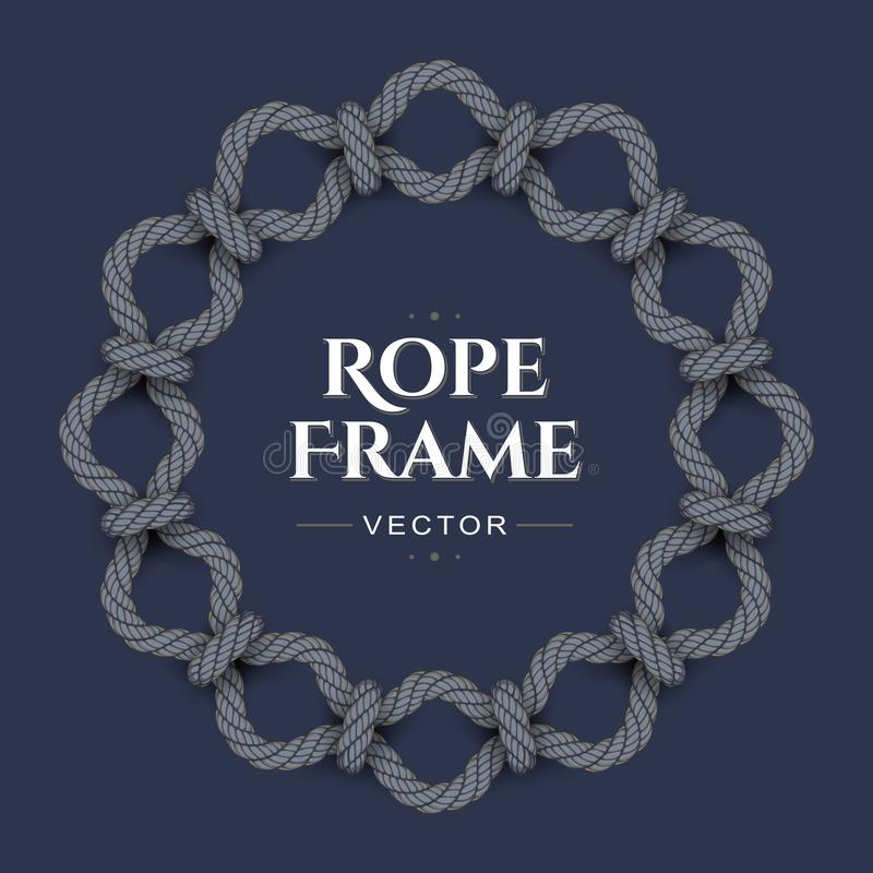 Round rope frame royalty free illustration