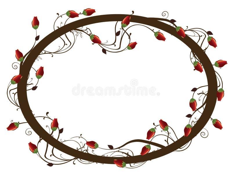 Round rose frame stock illustration