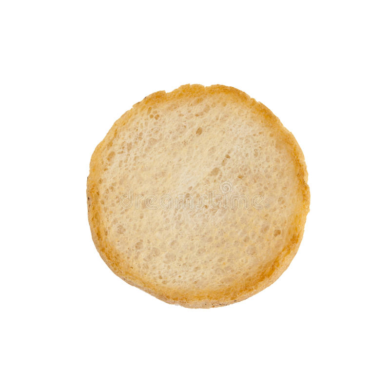 Round rusk, isolated on a white background royalty free stock images