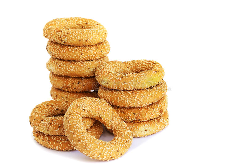Round rusks royalty free stock photo