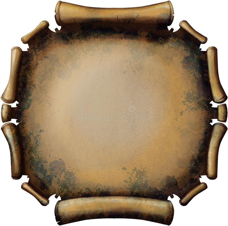 Round Rusty Scroll royalty free illustration
