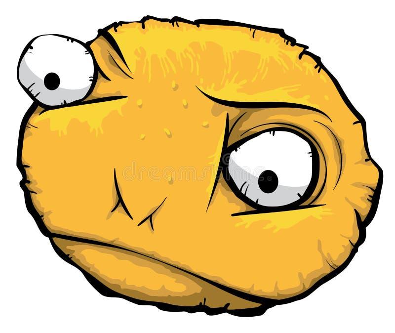 Round Sad Face Stock Image