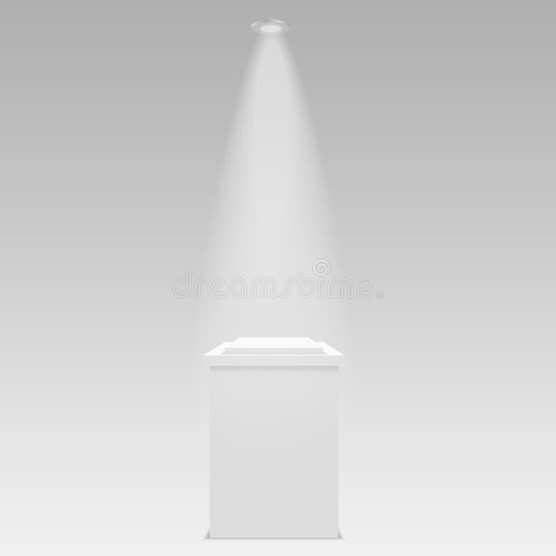 Round sceny podium iluminujący z światłem na przejrzystym tle Sceny tła wektoru wektorowa ilustracja ilustracji