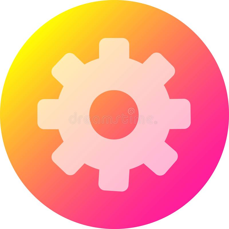 settings icon for applications and additional features stock illustration