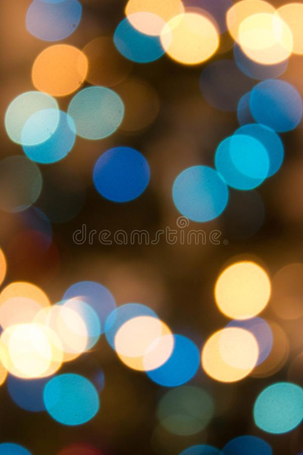 Bokeh background with round shaped lights or blurred lights background stock photo