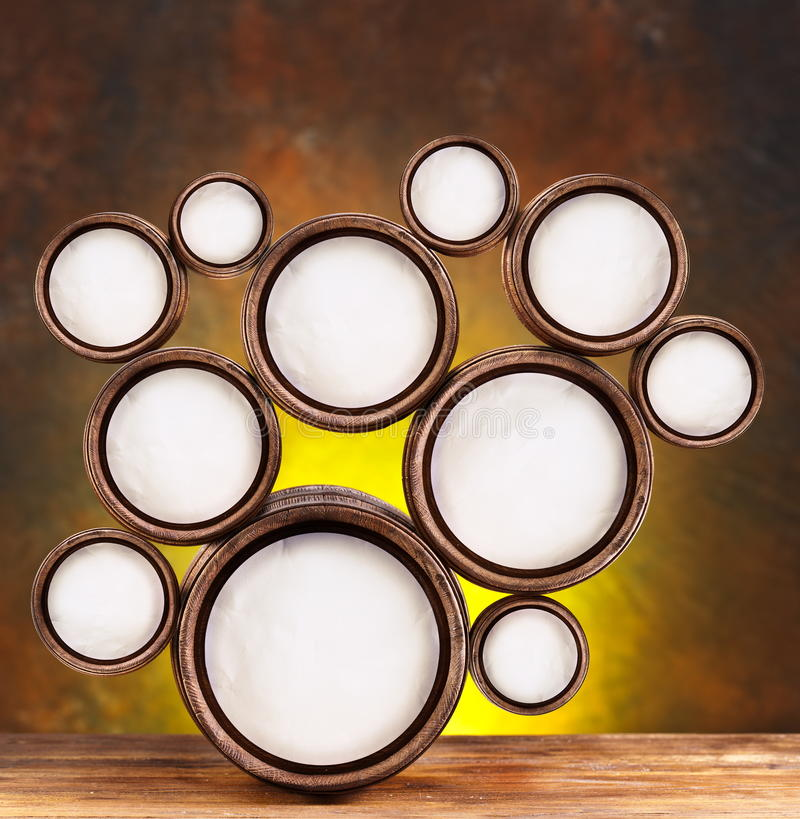 Round Shapes In The Form Of Beer Barrels Royalty Free Stock Image