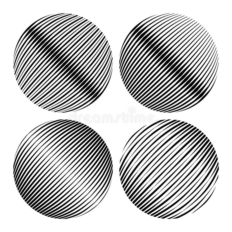 Round shapes. Geometric abstractions for backgrounds and logos.  vector illustration