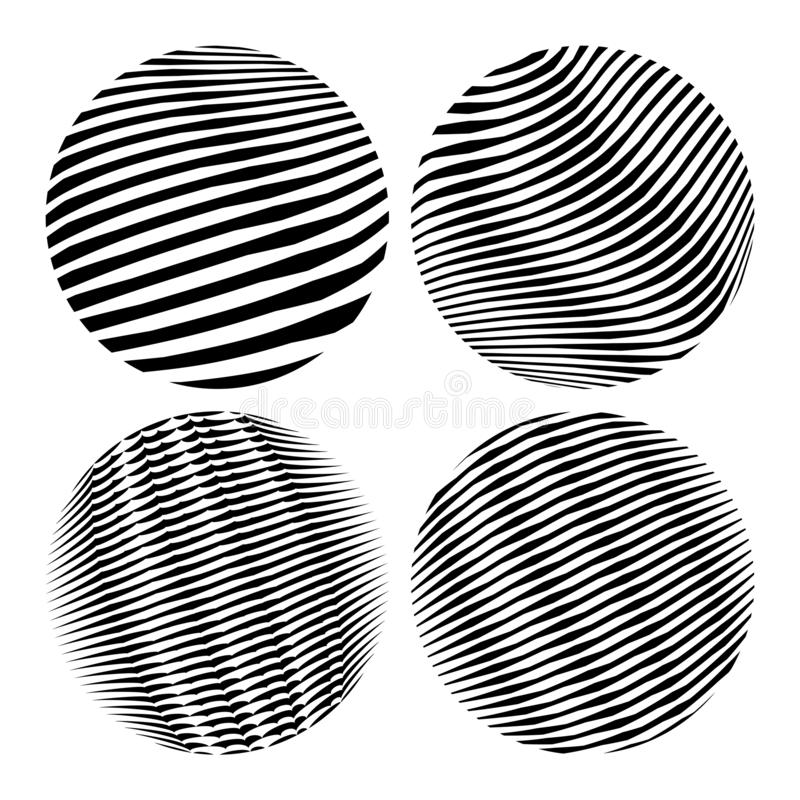 Round shapes. Geometric abstractions for backgrounds and logos.  royalty free illustration