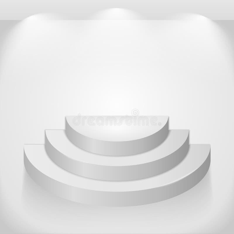 Round Shelf. Illustration of gray round shelf vector illustration