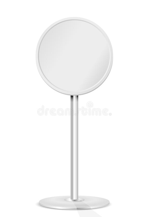 Round sign. Round road sign on a stand, illustration stock illustration