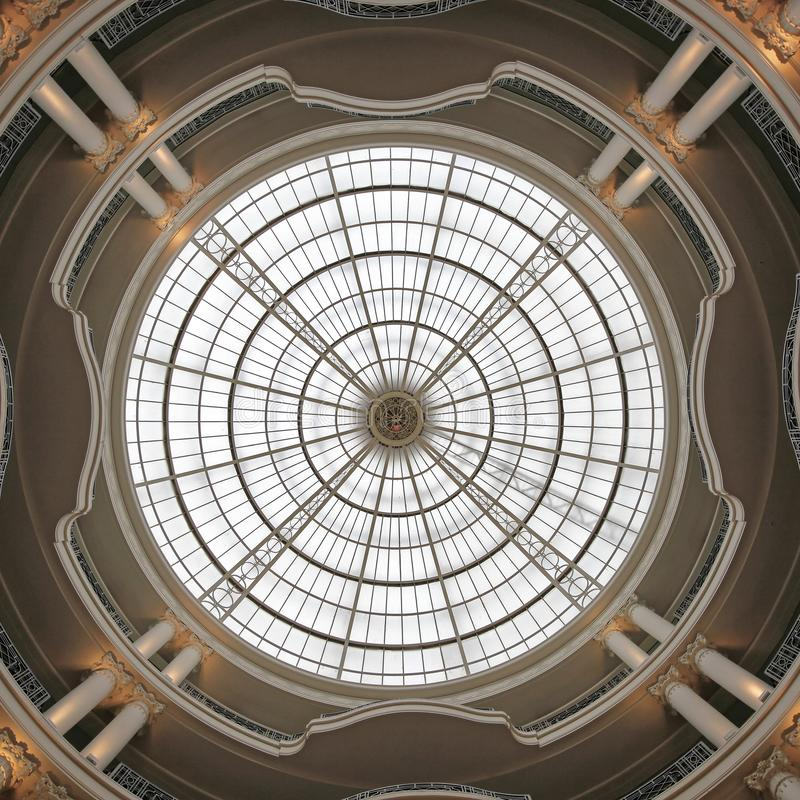 Round Skylight. Round Ceiling Skylight Dome Window Structure royalty free stock photo