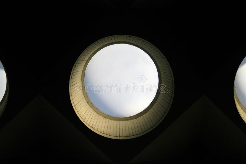 The round skylight. Of the turing building royalty free stock photography
