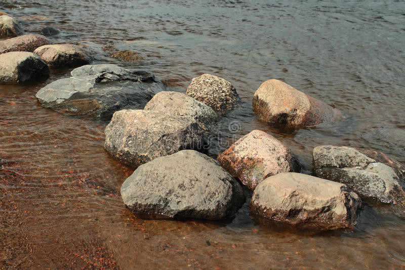 Round smooth boulders royalty free stock images